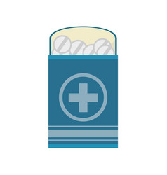 pack medicine pill icon vector image