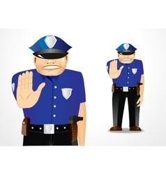 policeman showing stop gesture vector image vector image