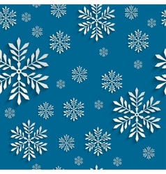 Abstract 3d Seamless Pattern with Snowflakes vector image vector image