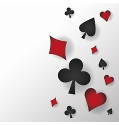 Casino and Cards symbols of Poker design vector image vector image