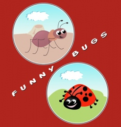 funny bugs vector image vector image