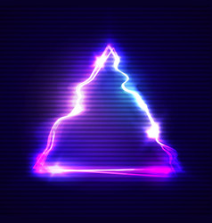 glitch art with neon triangle glitched frame vector image vector image