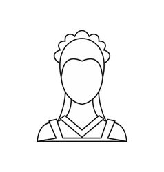 Maid icon outline style vector image vector image