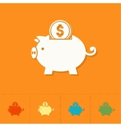 Piggy Moneybox with Coins vector image