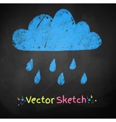 Rainy cloud vector image vector image
