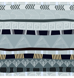 Seamless texture with traditional African pattern vector image vector image