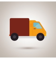 truck isolated design vector image