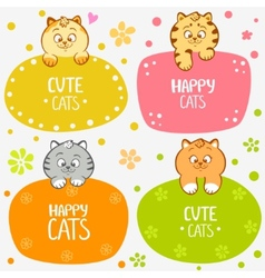 kittens labels vector image