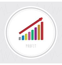 Profit chart2 vector image
