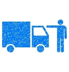 Truck Customer Grainy Texture Icon vector image