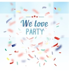 Colorful confetti party background vector