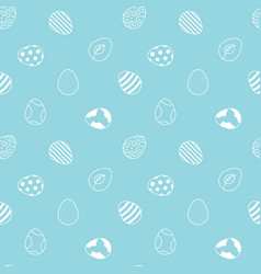 doodle easter eggs seamless pattern background vector image vector image