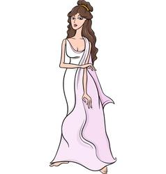 greek goddess aphrodite cartoon vector image