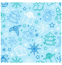 seamless pattern Christmas Figures vector image vector image