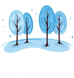 trees in winter vector image vector image