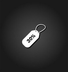 30 percent discount icon flat vector image