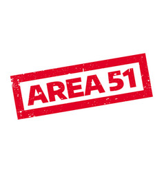 Area 51 rubber stamp vector