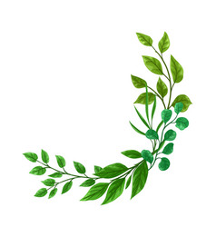 background sprigs with green leaves vector image