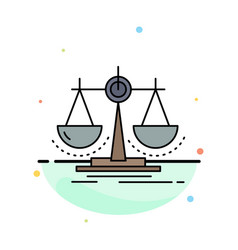Balance decision justice law scale flat color icon vector