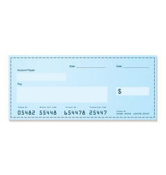 bank cheque vector image