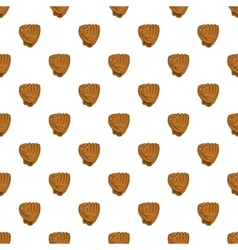Baseball glove pattern cartoon style vector image