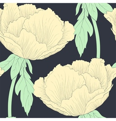 Beautiful seamless background with flowers vector