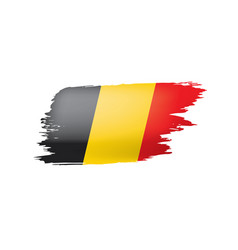 belgium flag on a white vector image