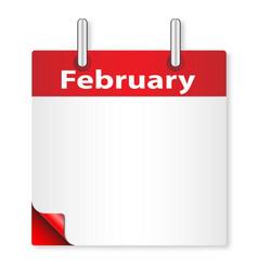 Blank february date vector