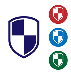 Blue shield icon isolated on white background vector