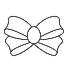 bow for gift thin line icon knot vector image