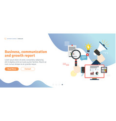 business communication and growth report vector image