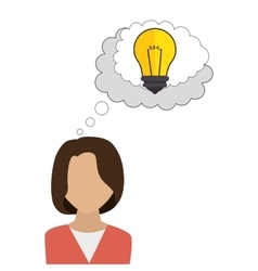 Businesswoman character avatar with idea icon vector