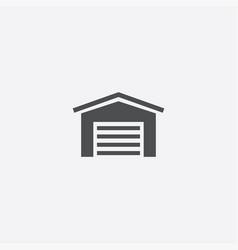 Car garage icon vector