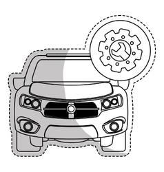 Car repair workshop emblem icon image vector