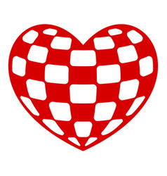 Checkers heart icon simple style vector