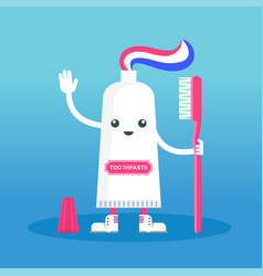 cute happy smiling toothpaste vector image