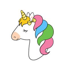 Cute unicorn unicorn vector