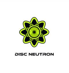 disc neutron logo vector image