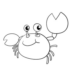 Doodle animal for crab vector