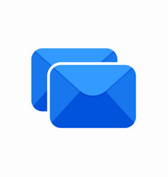 Double envelope letter mail message send icon vector