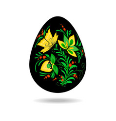 easter egg painting khokhloma vector image