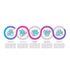 Financial crisis infographic template different vector