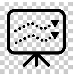 financial trends icon vector image