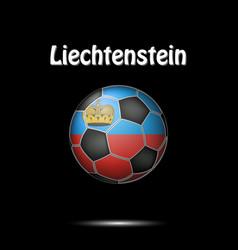 flag of liechtenstein in the form of a soccer ball vector image