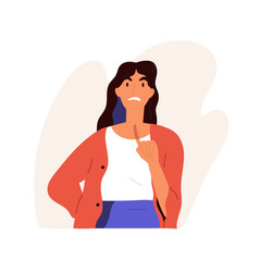 furious angry woman scolding in anger annoyed vector image