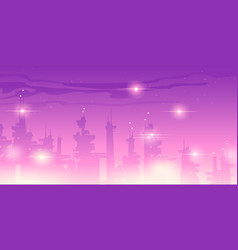 future night city with futuristic skyscrapers vector image