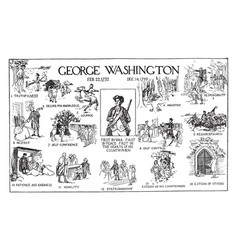 George washington poster vintage vector