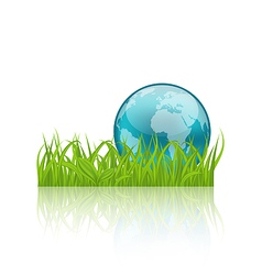 Green concept ecology background with grass and vector image