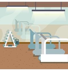 Gym interior background vector