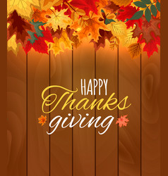 happy thanksgiving day autumn background with vector image